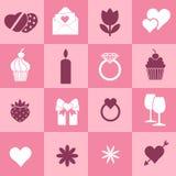 Valentine's day symbols Stock Images