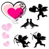 Valentine's day symbols - vector set. Valentine's day symbols - 2d vector set Stock Images