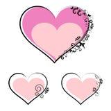 Valentine's day symbols - vector set Stock Images