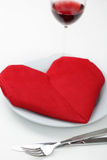 Valentine's day table setting Royalty Free Stock Images