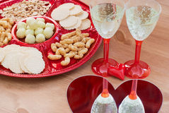Valentine's day table setting Stock Image