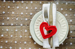 Valentine's day table setting Royalty Free Stock Image
