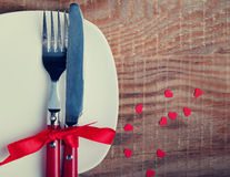 Valentine's day table setting Royalty Free Stock Photography