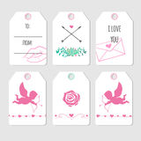 Valentine's day tag cards Royalty Free Stock Photo