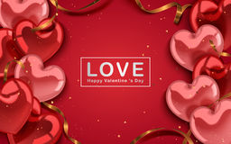 Valentine`s day template Royalty Free Stock Image