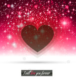 Valentine's Day template with stunning hearts Stock Photography