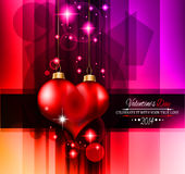 Valentine's Day template with stunning hearts Stock Images