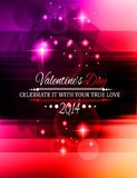 Valentine's Day template with stunning hearts Royalty Free Stock Photo