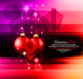 Valentine's Day template with stunning hearts Royalty Free Stock Image