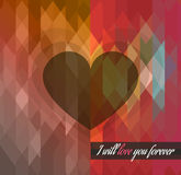 Valentine's Day template with stunning hearts Royalty Free Stock Photos