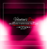 Valentine's Day template with stunning hearts Royalty Free Stock Photography