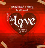 Valentine's Day template with stunning hearts Royalty Free Stock Images