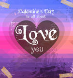Valentine's Day template with stunning hearts Stock Photos