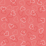 Valentine's day texture. Pink Valentine's day texture with hearts stock illustration