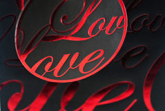 Valentine's Day theme. In red and black colour Royalty Free Stock Photography