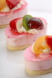 Valentine's day theme - Cake with fresh fruits Stock Images