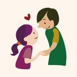 Valentine's day theme love couple elements vector. Cartoon vector illustration Stock Image