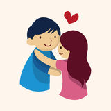 Valentine's day theme love couple elements vector. Cartoon vector illustration Stock Photos