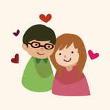 Valentine's day theme love couple elements vector. Cartoon vector illustration Royalty Free Stock Photography