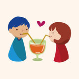 Valentine's day theme love couple elements vector. Cartoon vector illustration Royalty Free Stock Photo
