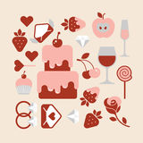 Valentine's day themed design Royalty Free Stock Image