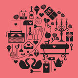 Valentine's day themed design Stock Photos