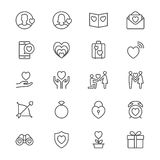 Valentine's day thin icons Stock Photo