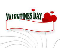 Valentine's day. Ticket valentine's day with hearts Royalty Free Stock Photos