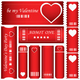 Valentine's Day tickets Royalty Free Stock Photo
