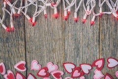 Valentine's Day Top Down Background Stock Photography
