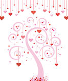 Valentine's day tree Stock Images