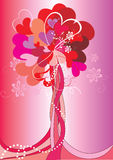 Valentine's Day tree. Abstract vector background Stock Photos