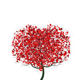 Valentine`s Day Tree Stock Photography