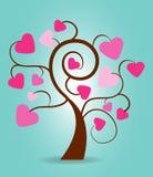 Valentine's Day Tree Royalty Free Stock Photos