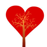 Valentine's day tree love Stock Image