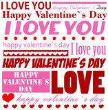 Valentine's Day typographic background Royalty Free Stock Photos