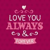 Valentines Day Typographic Design Card Stock Photo