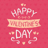 Valentines Day Typographic Design Card Stock Photo
