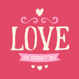 Valentines Day Typographic Design Card Royalty Free Stock Photo