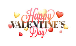 Valentine`s Day Typographical Background. Stock Image