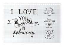 Valentine's day typography Royalty Free Stock Images