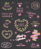 Valentine's Day Typography Elements Royalty Free Stock Photography