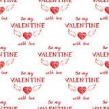 Valentine's day typography  seamless Stock Image
