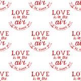 Valentine's day typography  seamless Royalty Free Stock Photos