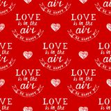 Valentine's day typography  seamless Royalty Free Stock Image