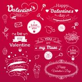 Valentine's Day typography set, vector Stock Photos