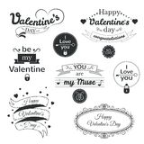 Valentine's Day typography set, vector Stock Photography