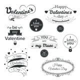 Valentine's Day typography set, vector Stock Photography
