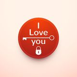 Valentine's Day typography, vector illustration Royalty Free Stock Photo