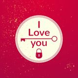 Valentine's Day typography, vector illustration Stock Photos